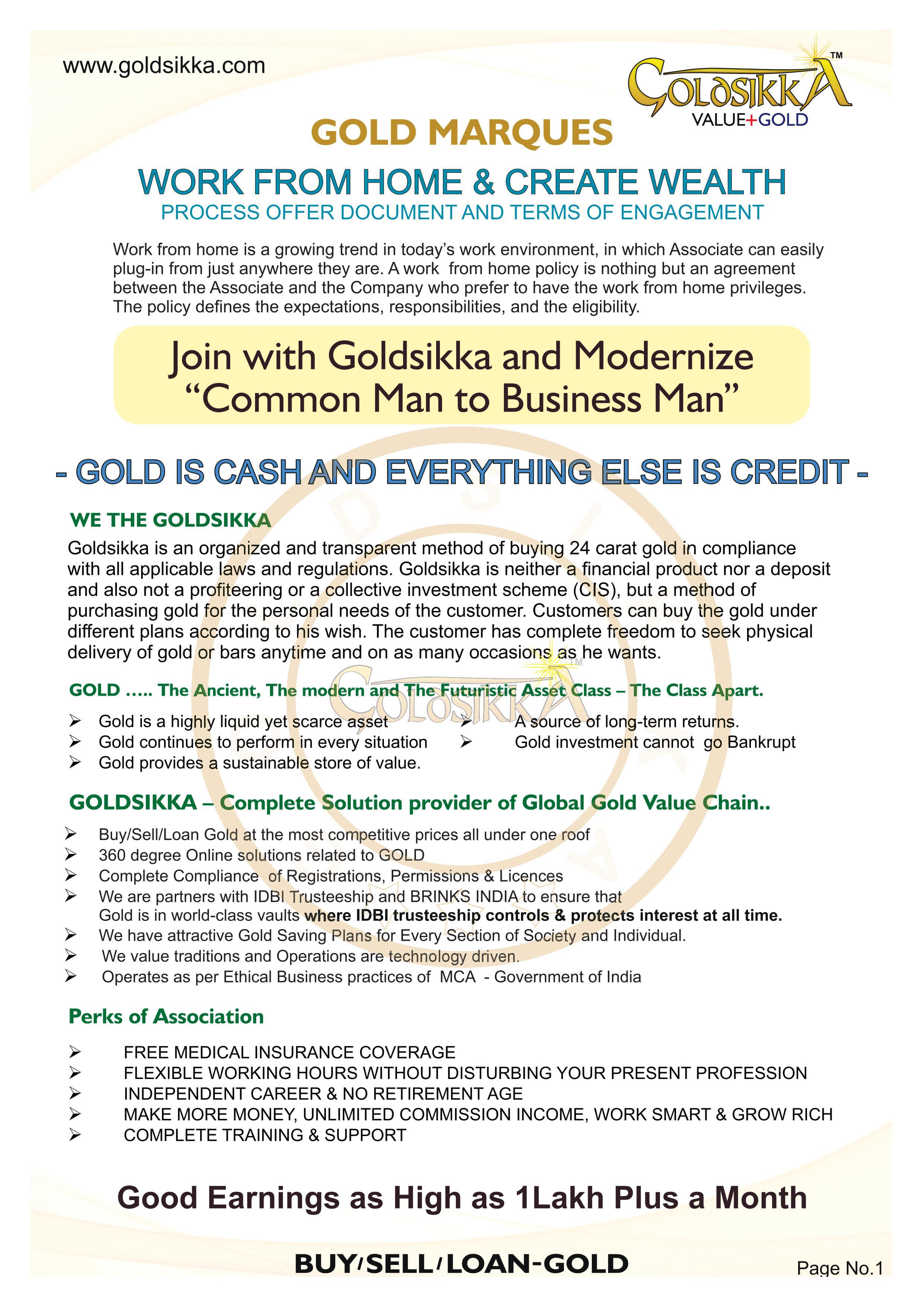 Goldsikka Associated with Gold Marques